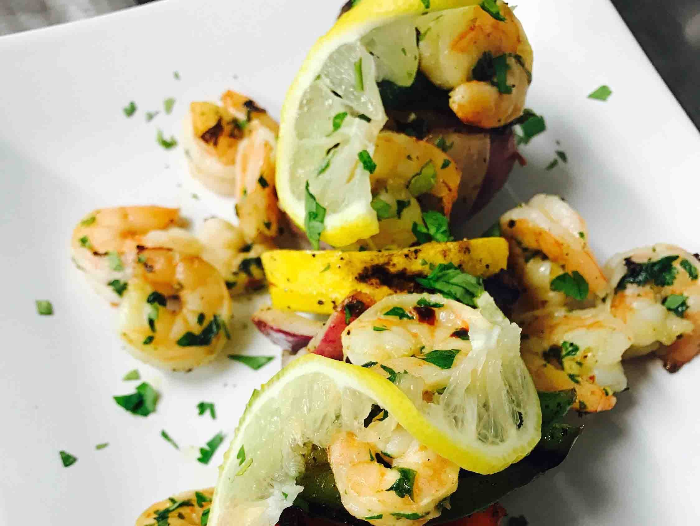 Lemon shrimp with vegetables
